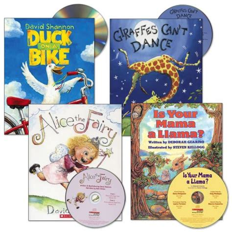 free children books with audio and pictures read aloud book and cd set set of 4