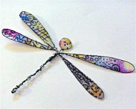 dragonfly paper craft tissue paper dragonfly allfreepapercrafts