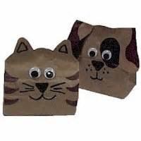 paper bag cat craft paper bag animals