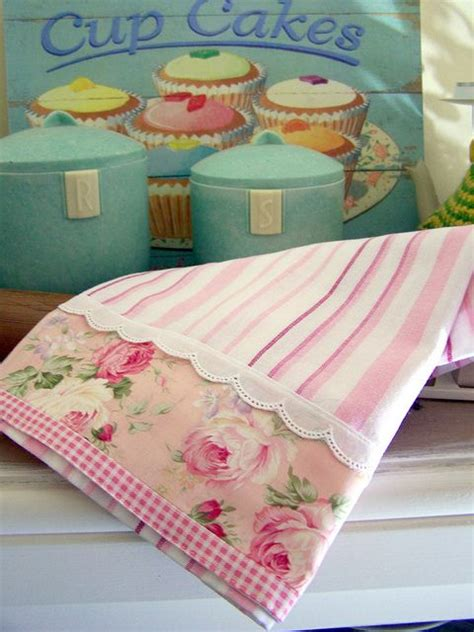 shabby chic tea towels 17 best ideas about shabby chic pillows on