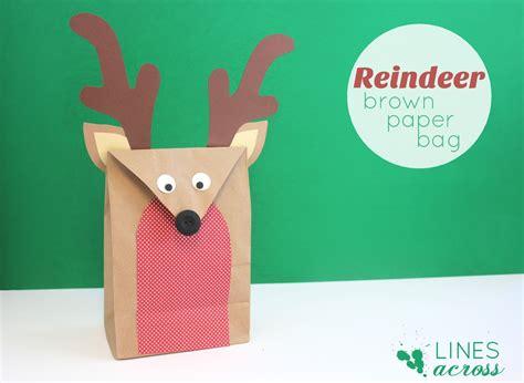 paper bag reindeer craft reindeer brown paper bag lines across