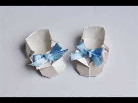 origami baby shoes origami tutorial sapatinho de beb 234 baby shoes