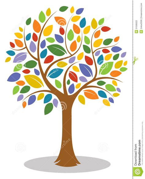 colorful tree colorful tree clip clipart free
