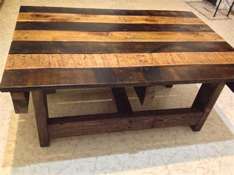 wood coffee tables crafted handmade reclaimed rustic pallet wood coffee