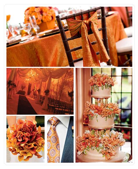 orange color theme trending orange wedding color ideas for fall 2014