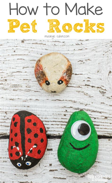 craft for of all ages how to make pet rocks living well