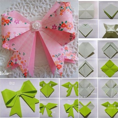 origami bows diy origami bow diy crafts