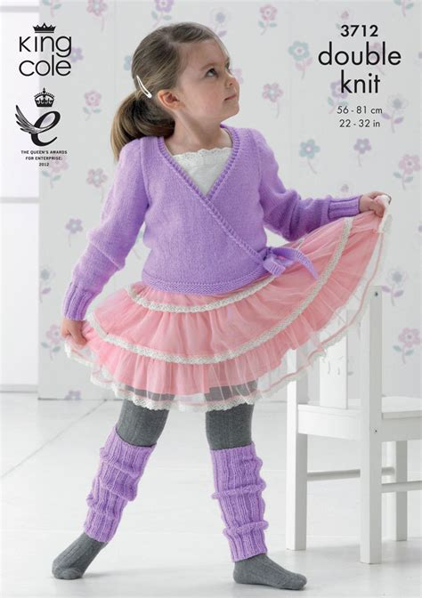 leg warmers knitting pattern 8 ply ballet cardigan and leg warmers in king cole dk 3712