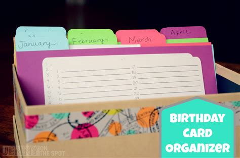 make your own card box how to make a birthday card organizer and card box