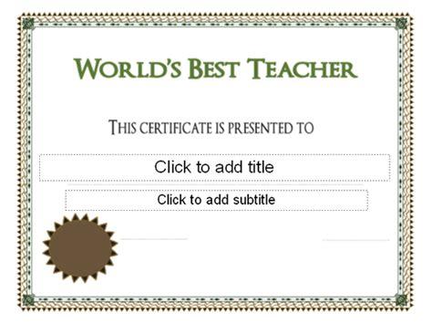 best certificate templates world s best teacher award certificate free certificate