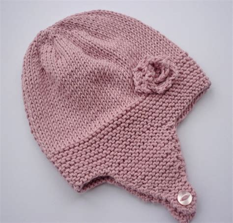 knitting patterns for baby hats with ears baby hat with ear flaps knitting pattern my crochet