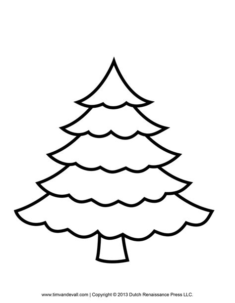 tree color in printable paper tree template and clip