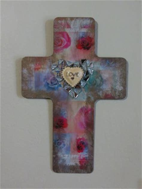 decoupage cross decoupaged easter cross favecrafts