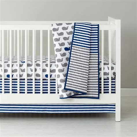 whale crib bedding sets baby bedding blue grey whale fitted sheet the land of nod