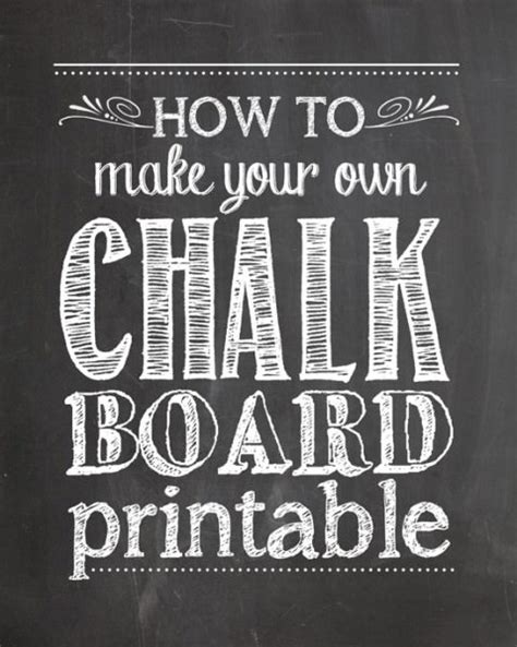 diy chalkboard print how to make a chalk board printable tip junkie