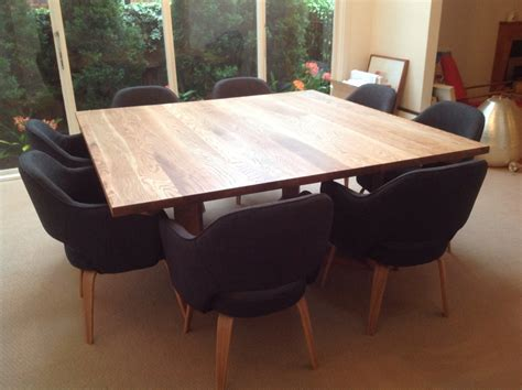 square oak dining table for 8 custom diy square dining room table seats 8 with black