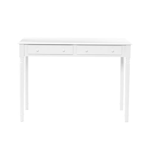 white writing desks sei 2 drawer wood writing desk crisp white