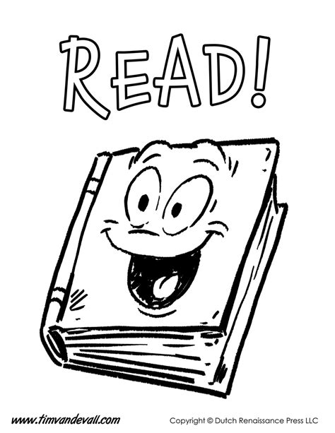 read colored reading coloring page tim s printables