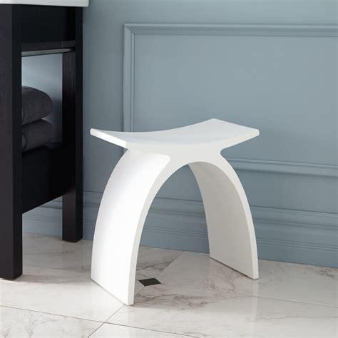 bathroom shower stool cygni resin bath stool white matte finish shower seats