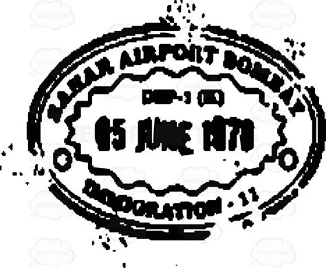 postal cancellation rubber st clipart airport bombay rubber ink postal travel st
