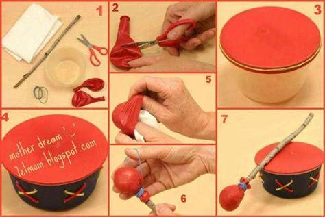 easy kid crafts to do at home diy drum using balloons find projects