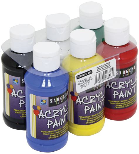 acrylic paint 4 oz sargent primary acrylic paint set 4 ounce