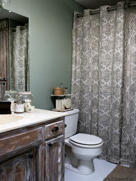 Bathroom Makeovers Cost by In Makeovering Low Cost Rustic Bathroom Makeover