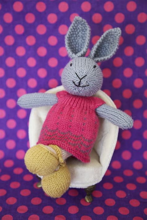 knit bunny pattern knitted rabbit pattern