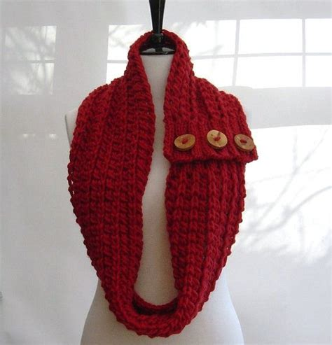 infinity scarf knit pattern for beginners knitting pattern infinity scarf cowl chunky button tab