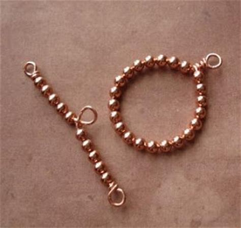 beaded toggle clasp how to make a bead and wire toggle and bar clasp the