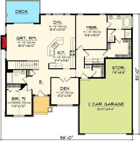open ranch floor plans plan 89845ah open concept ranch home plan house plans house plans ranch house