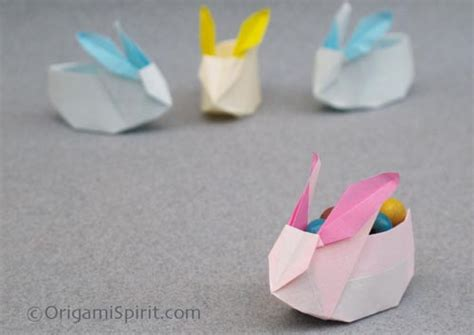 origami easter bunny basket origami bunny box make your own try it like it