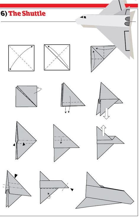 origami space shuttle paper airplanes how to fold and create paper airplanes