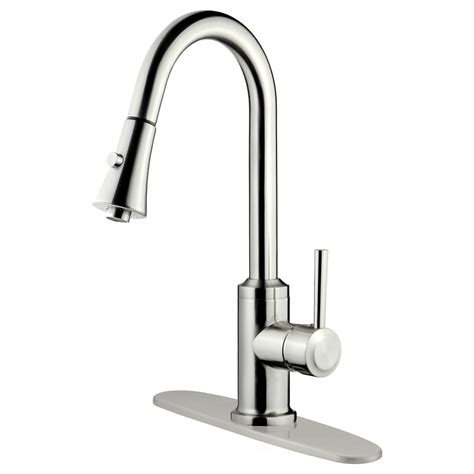 faucet kitchen lk11b pull out kitchen faucet brushed nickel finish kitchen sink faucets single handle