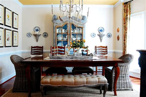 Farmhouse Dining Room Decorating Ideas Terrific Wicker Bench Seat Decorating Ideas Gallery In