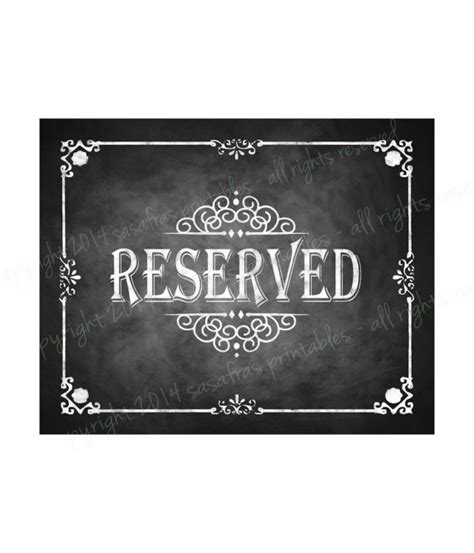 diy chalkboard print reserved chalkboard wedding sign diy by sasafrasprintables