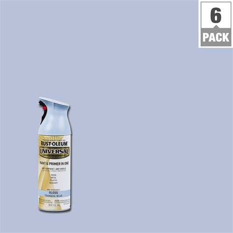 home depot spray paint and primer rust oleum universal 12 oz all surface gloss tranquil