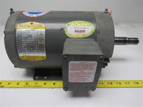 3hp Electric Motor by Baldor Jmm3158t 3hp Electric Motor 208 230 460v 3ph 145jm