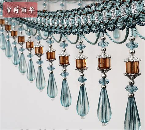 beaded fringe for curtains sale luxury fashion craft curtain lace high quality