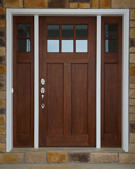 style front door hints on buying craftsman style entry doors interior