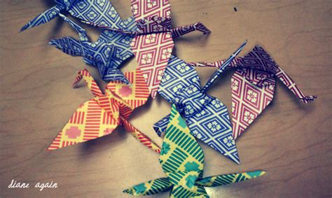 origami crane history diane again five things i did today