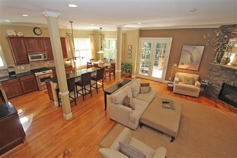 open kitchen dining and living room floor plans enchanting beige fabric modern sofa in open living room