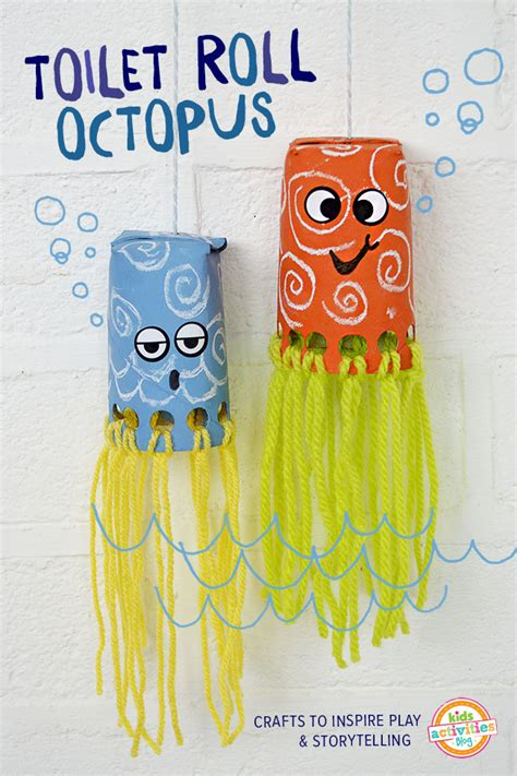 crafts using toilet paper rolls toilet roll crafts for wiggly octopus friends