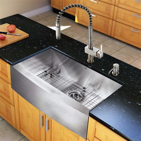 all in one kitchen sinks vg15128 all in one 33 inch farmhouse kitchen sink and
