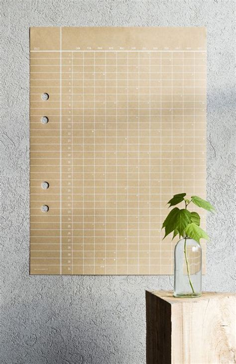 paper craft calendars large paper wall calendar calendar template 2016