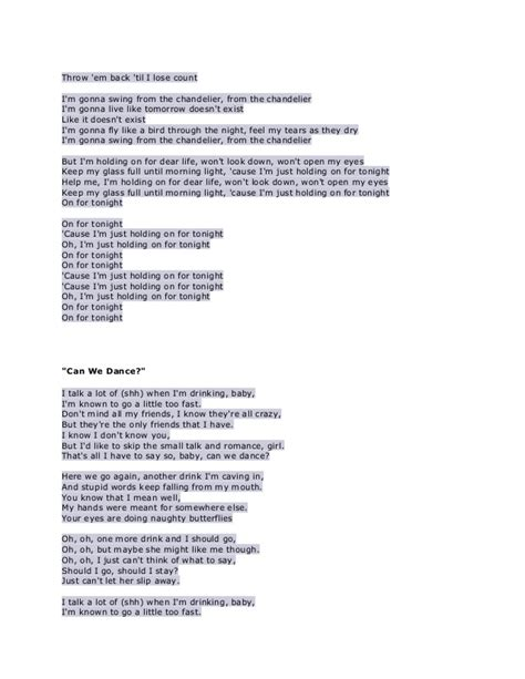 chandelier song lyrics chandeliers lyrics le parfum de la beaut 233 chandeliers