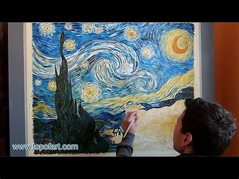 acrylic painting reproduction reproduction gogh starry painted