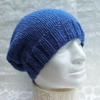 knit beanie needles ravelry simple slouchy beanie knit on