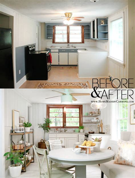 before after modern cottage in contemporary cottage kitchen makeover home made by carmona