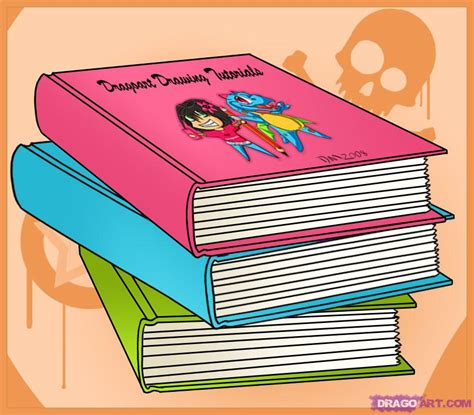 drawing book pictures how to draw books step by step stuff pop culture free